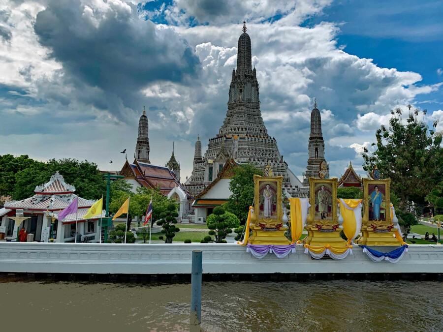 Blick auf Wat Arun in Bangkok